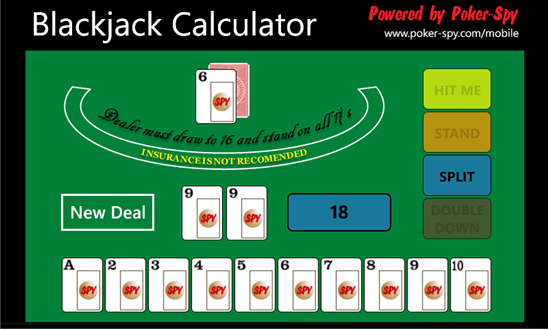 Blackjack card counter calculator